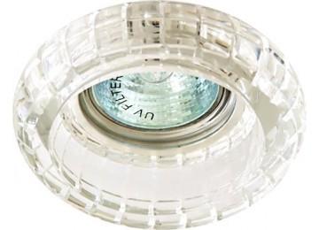 2107CD JCDR 50W G5.3 прозрачный, потолочный хром (с лампой)