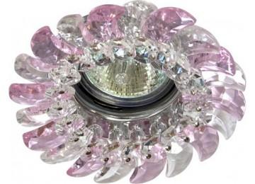 2316 CD MR16 50W G5.3 прозрачный-розовый, золото (с лампой)