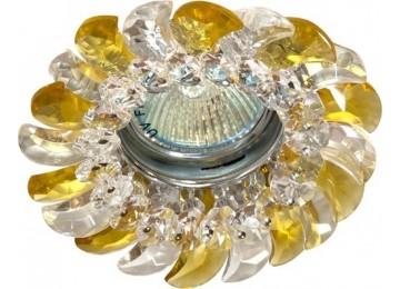 2316 CD MR16 50W G5.3 прозрачный-желтый, хром (с лампой)