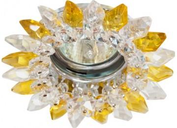 2315 CD MR16 50W G5.3 прозрачный-желтый, золото (с лампой)