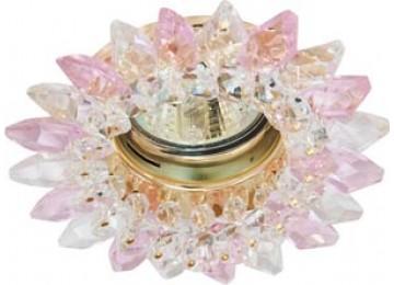 2315 CD MR16 50W G5.3 прозрачный-розовый, хром (с лампой)