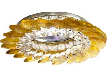 2313 CD MR16 50W G5.3 прозрачный-желтый, золото (с лампой)