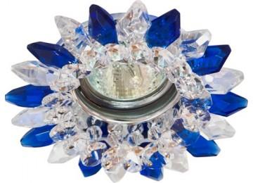 2315 CD MR16 50W G5.3 прозрачный-синий, хром (с лампой)
