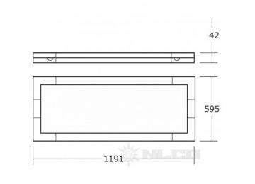 GSA64-02-W-03 рассеиватель призматический; свет теплый