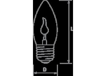 Лампа 3W-E27 мерцающая,(на-ветру)