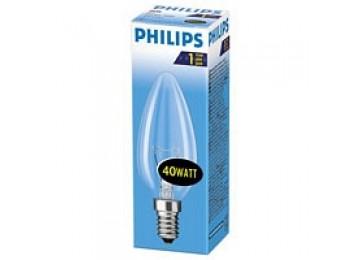 Лампа 25W-60W E14-Е27 свечка матовая-прозрачная