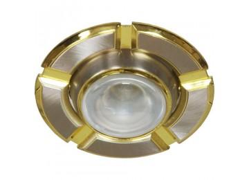 Светильник 098T-плоско-поворот-MR-16-титан-золото-D-L-GU5.3-TN-GD