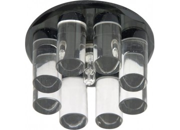 Светильник 1301 JC 20W G4 черный (с лампой)