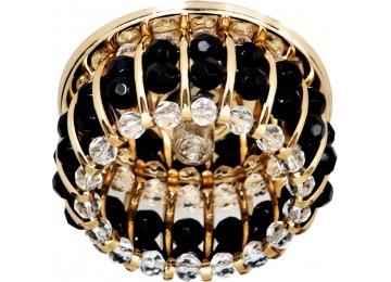 Светильник 2119 CD JCD9 35W G9 прозрачный-черный, золото (с лампой)