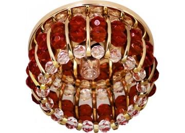 Светильник 2119 CD JCD9 35W G9 прозрачный-красный, золото (с лампой)