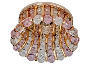 Светильник 2120 CD JCD9 35W G9 прозрачный-розовый, золото (с лампой)
