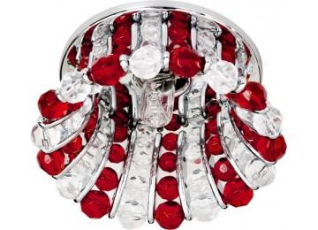 Светильник 2120 CD JCD9 35W G9 прозрачный-красный, хром (с лампой)