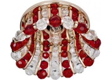 Светильник 2120 CD JCD9 35W G9 прозрачный-красный, золото (с лампой)