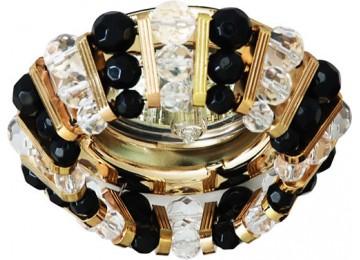 Светильник 2121 CD MR16 50W G5.3 прозрачный-черный, золото (с лампой)