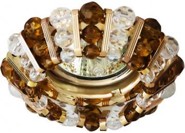 Светильник 2121 CD MR16 50W G5.3 прозрачный-коричн., золото (с лампой)