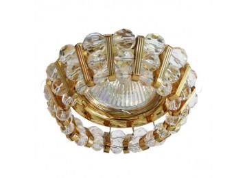Светильник 2121 CD JCDR 50W G5.3 прозрачный, золото (с лампой)