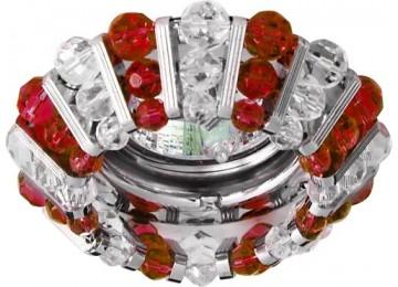 Светильник 2121 CD MR16 50W G5.3 прозрачный-красный, хром (с лампой)