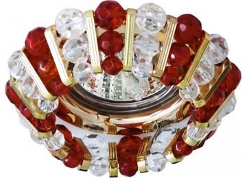 Светильник 2121 CD MR16 50W G5.3 прозрачный-красный, золото (с лампой)