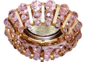 Светильник 2121 CD JCDR 50W G5.3 розовый, золото (с лампой)