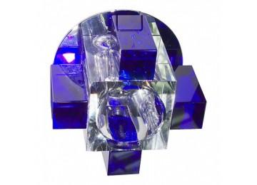 Светильник 1037СB с лампой синий G9