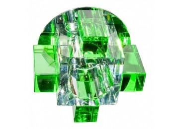Светильник 1037СG с лампой зеленый G9
