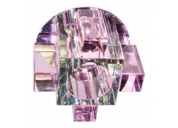 Светильник 1037СР с лампой розовый, G9