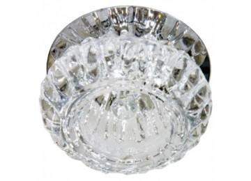 Светильник 1053 G JC 20W G4 прозрачный, хром (c лампой)