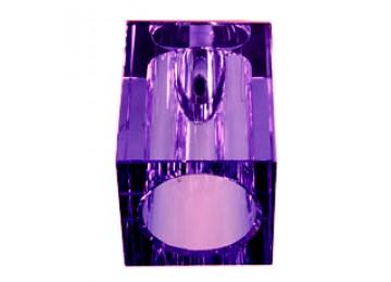 Светильник JD130-PU 20w G4 сиреневый кристалл, декоративный под галогенную лампу G4