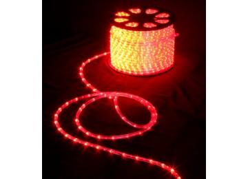 световая нить 13мм-верт-красный-2W