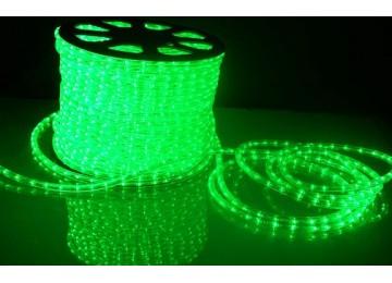 световая нить 13мм-верт-зеленый-2W