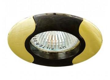 Светильник 020Т-MR-11 черный-золото D-L GU4