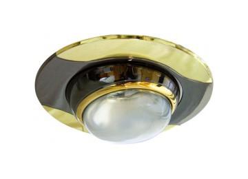 Светильник 020-R-50 черный-золото D-L E14