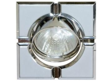 Светильник 098T-MR-16-S-квадрат-серый-хром-D-L-GU5.3-GY-CM