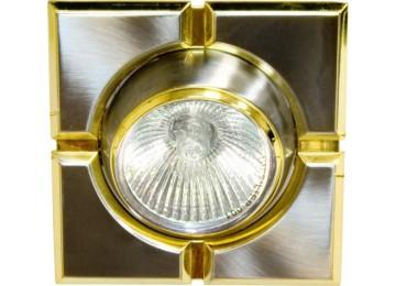 Светильник 098T-MR-16-S-квадрат-титан-золото-D-L-GU5.3-TN-GD