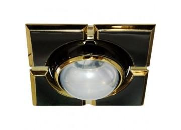 Светильник 098-R-50-S-квадрат-черн-золото-D-L-E14-BK-GD