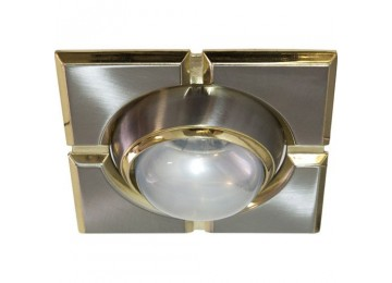 Светильник 098-R-50-S-квадрат-золото-хром-D-L-E14-GDCM