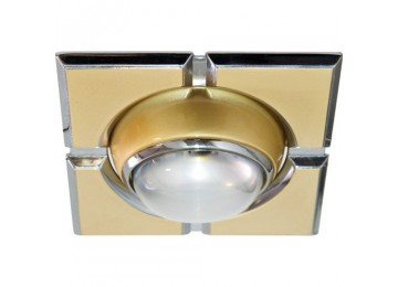 Светильник 098-R-39-S-квадрат-золото-хром-D-L-E14-GDCM