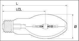 металлогалогенная лампа BLV USHIO HIE 150 Ватт E27